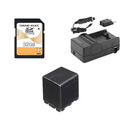 Panasonic HC-X920 Camcorder Accessory Kit includes: SDVWVBN390 Battery, SDM-1551 Charger, SD32GB Memory Card