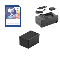 Canon VIXIA HF R42 Camcorder Accessory Kit includes: SDM-1556 Charger, KSD48GB Memory Card, ACD786 Battery