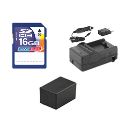 Canon VIXIA HF R42 Camcorder Accessory Kit includes: SD4/16GB Memory Card, SDM-1556 Charger, SDBP718 Battery