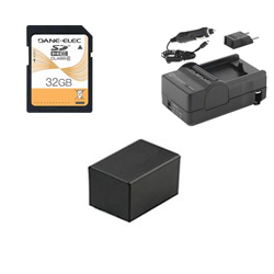 Canon VIXIA HF R42 Camcorder Accessory Kit includes: SD32GB Memory Card, SDM-1556 Charger, ACD786 Battery, SDM-1556 Charger, ACD786 Battery
