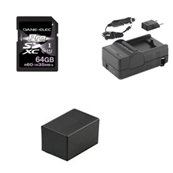 Canon VIXIA HF R42 Camcorder Accessory Kit includes: KSD64GB Memory Card, SDM-1556 Charger, ACD786 Battery, SDM-1556 Charger, ACD786 Battery