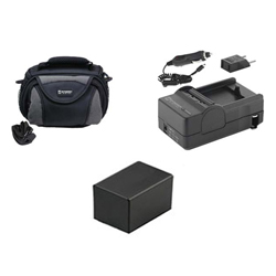 Canon VIXIA HF R42 Camcorder Accessory Kit includes: SDC-26 Case, SDM-1556 Charger, SDBP718 Battery