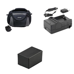Canon VIXIA HF R42 Camcorder Accessory Kit includes: SDC-26 Case, SDM-1556 Charger, ACD786 Battery, SDM-1556 Charger, ACD786 Battery