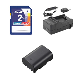 Panasonic Lumix DMC-GH3 Digital Camera Accessory Kit includes: KSD2GB Memory Card, SDM-1565 Charger, SDDMWBLF19E Battery