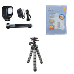 Panasonic Lumix DMC-GH3 Digital Camera Accessory Kit includes: ZELCKSG Care & Cleaning, ZE-VLK18 On-Camera Lighting, GP-22 Tripod