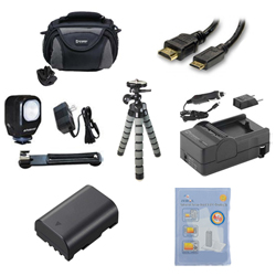 Panasonic Lumix DMC-GH3 Digital Camera Accessory Kit includes: ZELCKSG Care & Cleaning, ZE-VLK18 On-Camera Lighting, GP-22 Tripod, SDM-1565 Charger, SDDMWBLF19E Battery, SDC-26 Case, HDMI6FM AV & HDMI Cable