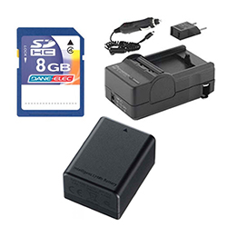 Canon VIXIA HF R300 Camcorder Accessory Kit includes: SDM-1556 Charger, SDBP718 Battery, KSD48GB Memory Card