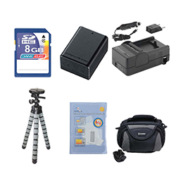 Canon VIXIA HF R300 Camcorder Accessory Kit includes: SDC-26 Case, ZELCKSG Care & Cleaning, GP-22 Tripod, SDM-1556 Charger, SDBP718 Battery, KSD48GB Memory Card