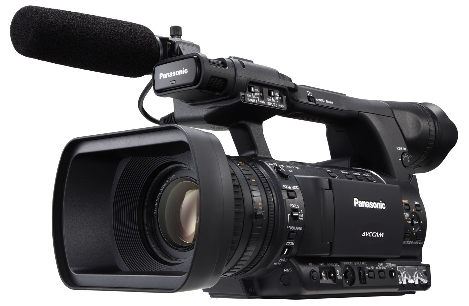 Cameras and Camcorders Panasonic AG-AC130 Camcorder Vidpro VB-H Top Hand Grip for DSLRs