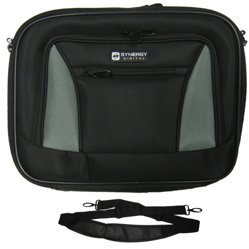 Synergy Digital Toshiba Satellite ProA200-1MT Laptop Case Carry Handle & Adjustable Shoulder Strap - Black/Gray - Adjustable & Removable Interio at Sears.com