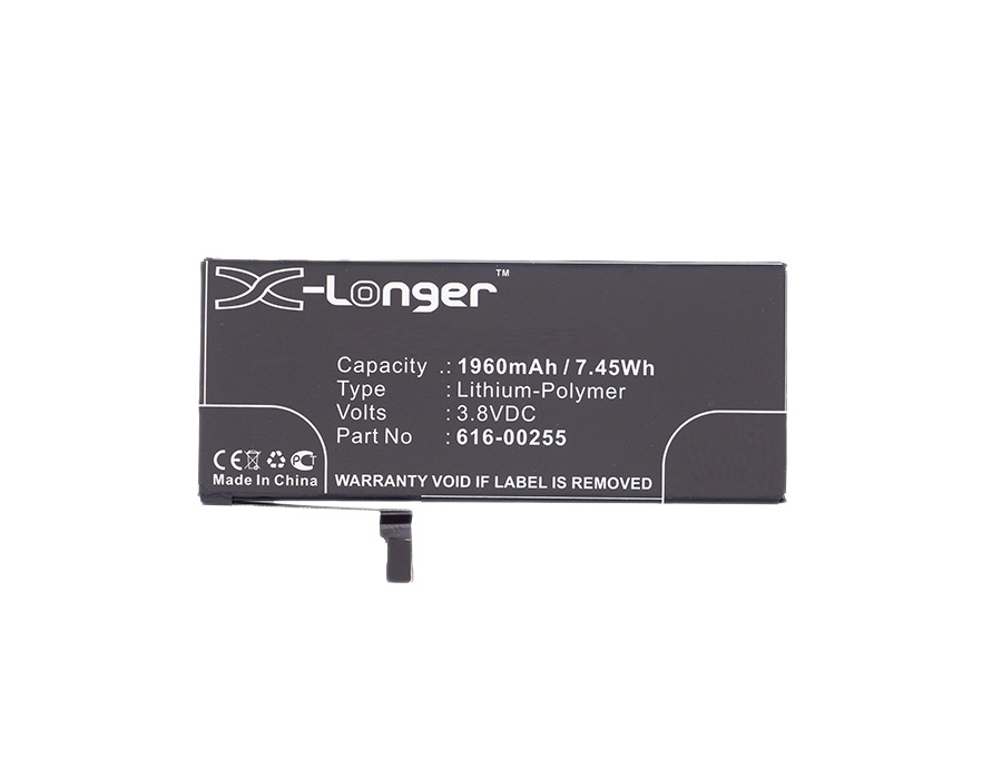 Synergy Digital Battery Compatible With Apple 616-00255 Cellphone Battery - (Li-Pol, 3.8V, 1960 mAh / 7.45Wh)