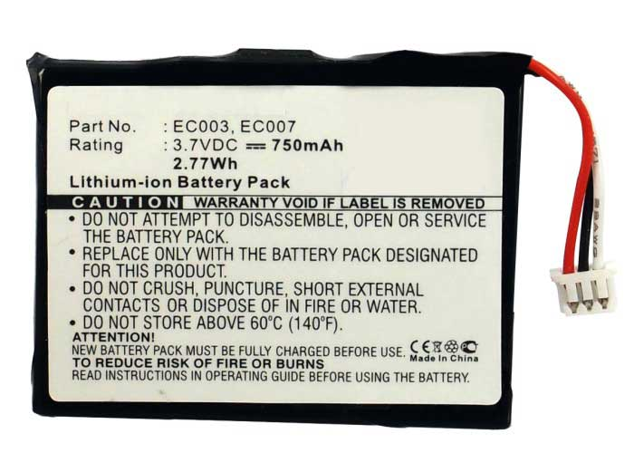 Synergy Digital Battery Compatible With Apple EC003 Replacement Battery - (Li-Ion, 3.7V, 750 mAh)