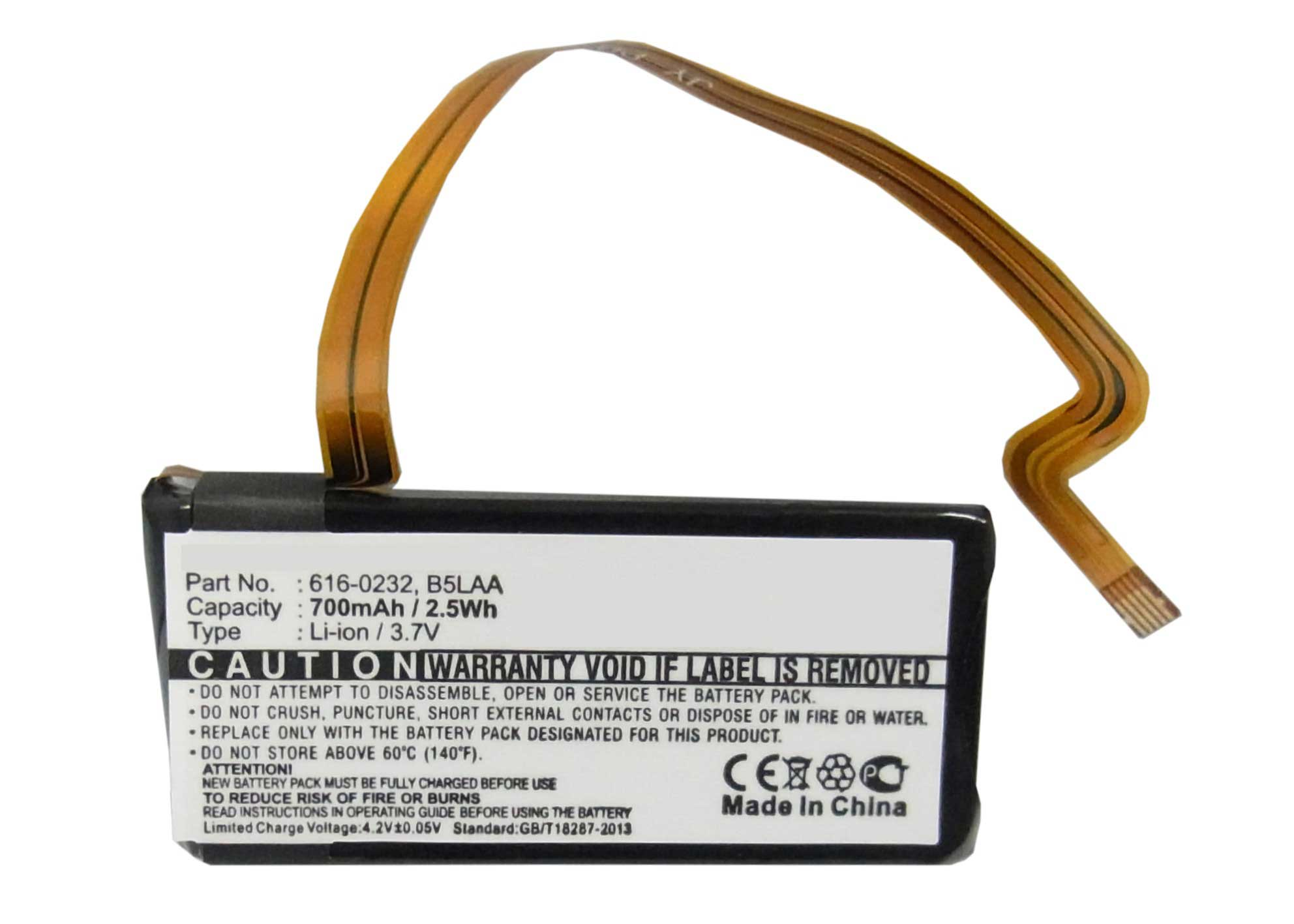 Synergy Digital Battery Compatible With Apple 616-0232 Replacement Battery - (Li-Ion, 3.7V, 700 mAh)