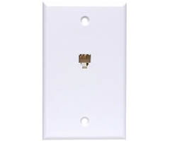 6-Conductor Smooth Finish Flush Wall Plates - Ivory