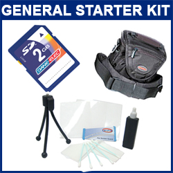 Starter Accessory Kit - Includes Case, Cleaning Kit, 2GB SD Memory Card