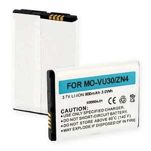 BLI-1113-.8 Li-Ion Battery - Rechargeable Ultra High Capacity (Li-Ion 3.7V 800mAh) - Replacement For Motorola VU30/ZN4 Cellphone Battery