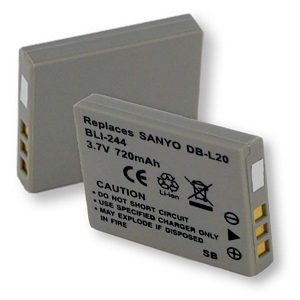 BLI-244 Li-Ion Battery - Rechargeable Ultra High Capacity (Li-Ion 3.7V 720mAh) - Replacement For Sanyo SL20 Digital Camera Battery
