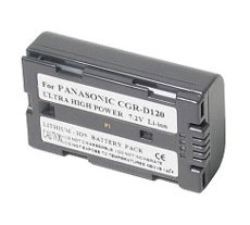 CGR-D08 Lithium-Ion Battery - Ultra High Capacity (1000 mAh) - replacement for Panasonic CGR-D08 Battery