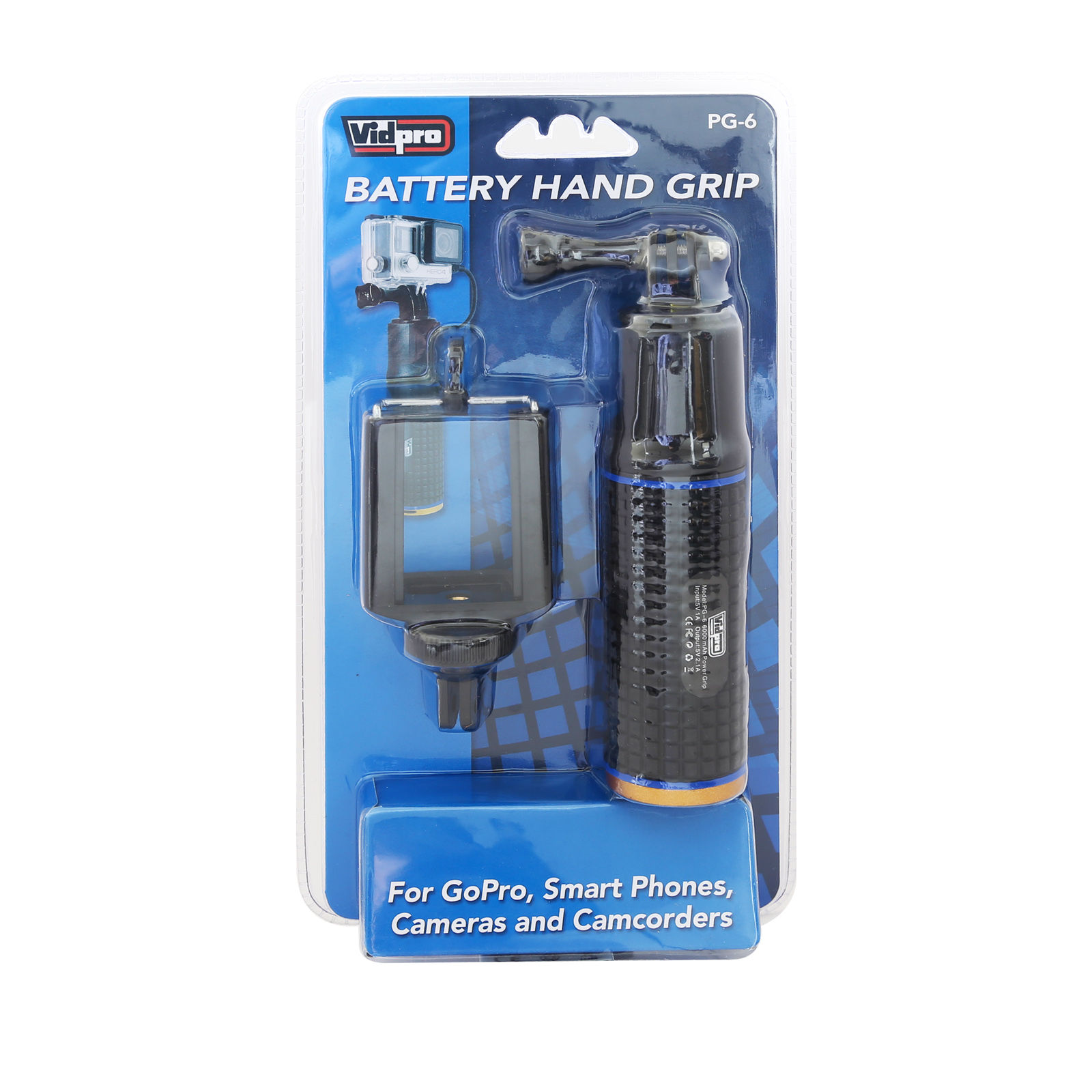 PG-6 Battery Hand Grip for Smartphones, cameras and camcorders