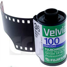 Fujichrome RVP 135-36 Velvia 100F Professional Color Slide Film (ASA 1OO) USA