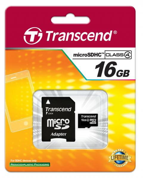 16GB microSDHC™ Memory Card with SD™ Adapter