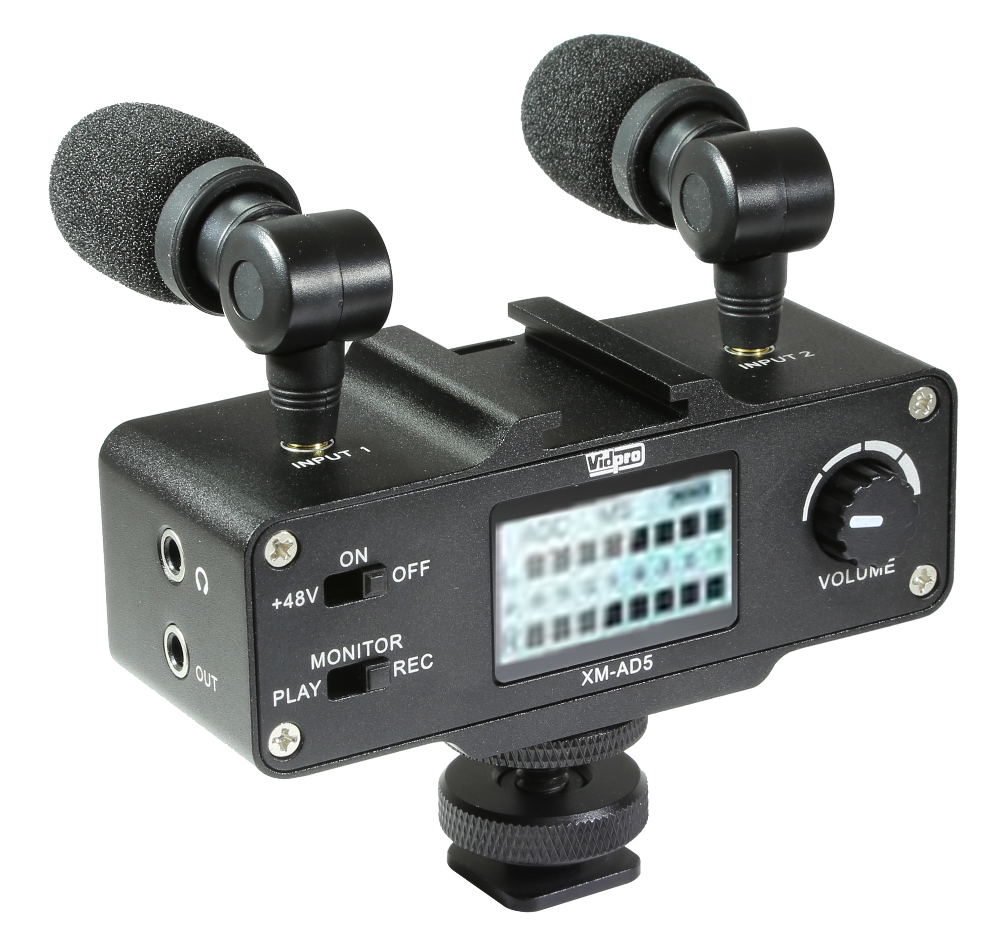 Vidpro XM-AD5 Mini Pre-Amp Smart Mixer with Dual Condenser Microphones for  DSLR's, Video Cameras ...